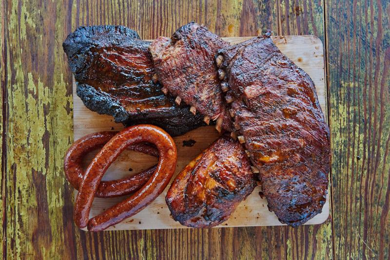 Big Game Special Brisket Pork Ribs Sausage Turkey Salt Lick Bbq