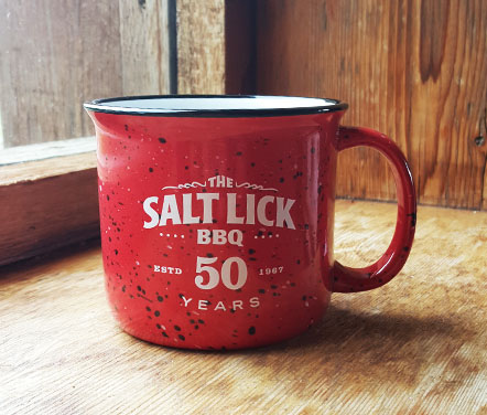 50th Anniversary Coffee Mug Red